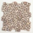 Solistone Kuala Madura Sands 12 in. x 12 in. x 12.7 mm Pebble Mosaic Floor and Wall Tile (10 sq.ft./case)