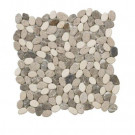 Jeffrey Court Emperador River Rocks 12 in. x 12 in. x 8 mm Marble Mosaic Floor/Wall Tile
