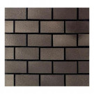 Daltile Urban Metals Bronze 12 in. x 12 in. x 8 mm Composite Brick-Joint Mesh-Mounted Mosaic Wall Tile