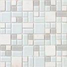EPOCH No Ka 'Oi Kapalua-Ka420 Stone And Glass Blend 12 in. x 12 in. Mesh Mounted Floor & Wall Tile (5 sq. ft.)